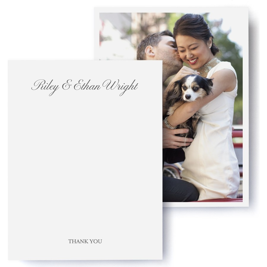 Black Tie Wedding Thank You Cards