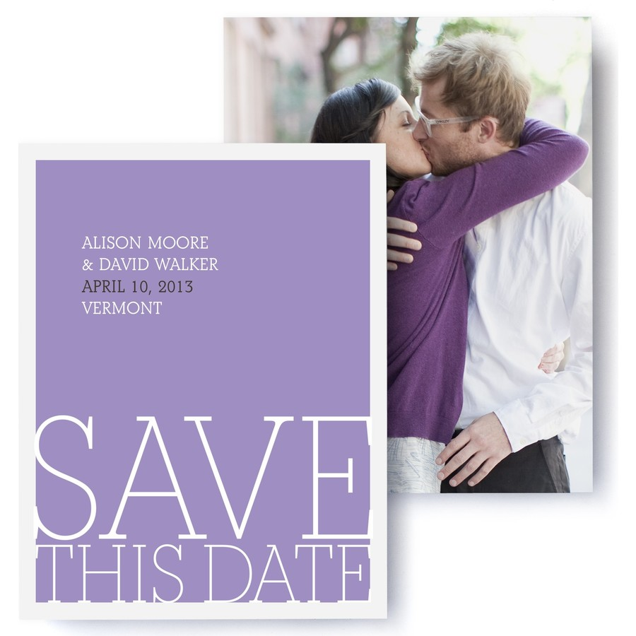 Love Letters Photo Save The Date Cards
