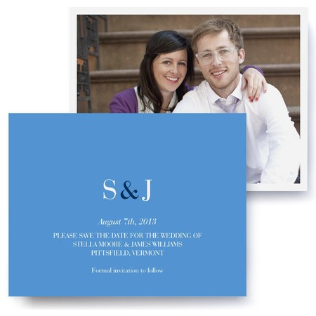 Classic Monogram Photo Save The Date Cards
