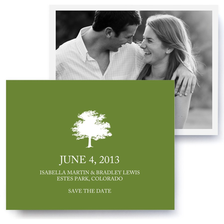 Arbor Icon Photo Save The Date Cards