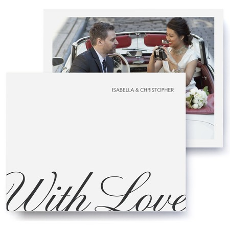 Calligraphic Wedding Thank You Cards
