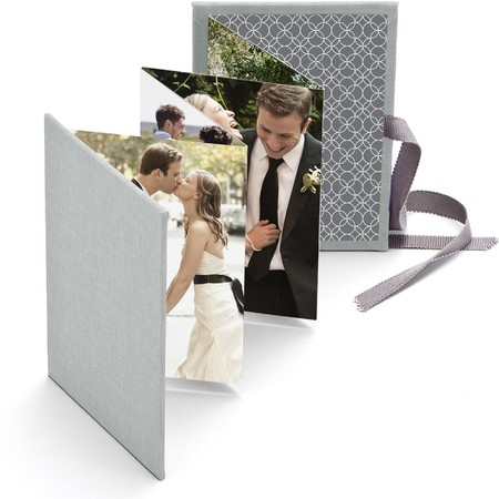 Wedding Brag Book with Gray Fabric