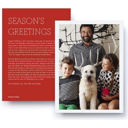 Red Portrait Letter Holiday Card – Ultrathick
