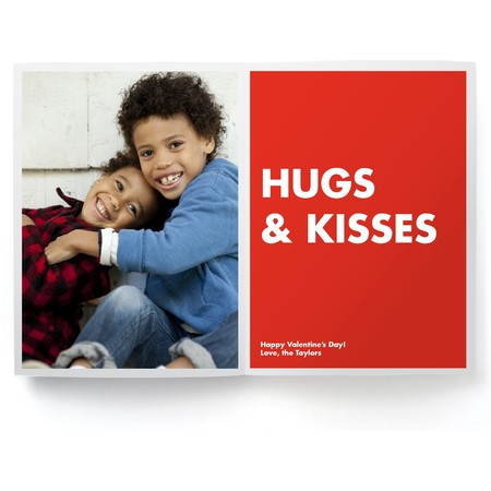 Hugs & Kisses Valentine's Day Photo Card