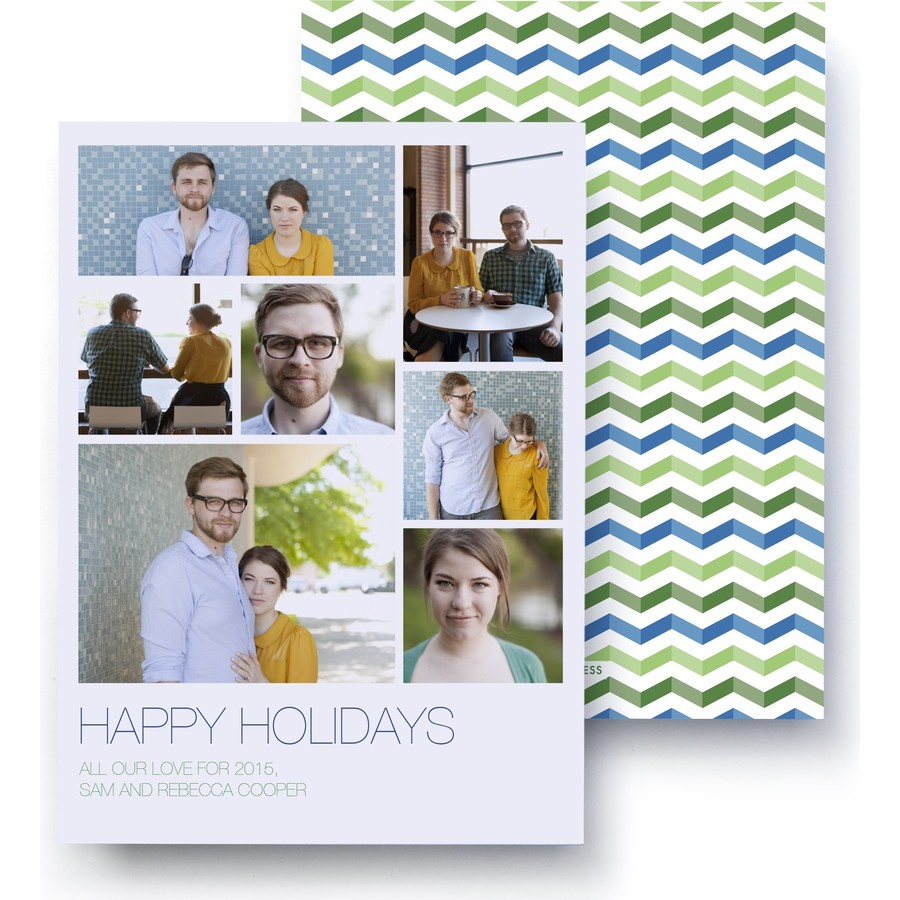 Refreshingly Chevron Holiday Photo Card
