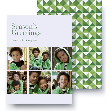 Evergreen Holiday Photo Card