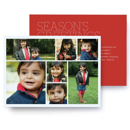 Christmas Letter Photo Card