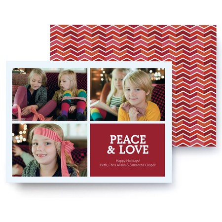 Festive Chevron Holiday Photo Card