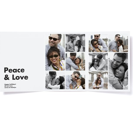 Platinum Trifold Photo Card   Happy Holidays Envelopes