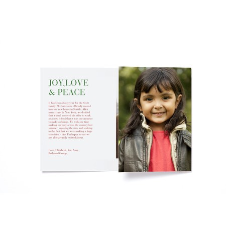 Flower Power Trifold Photo Card   Happy Holidays Envelopes