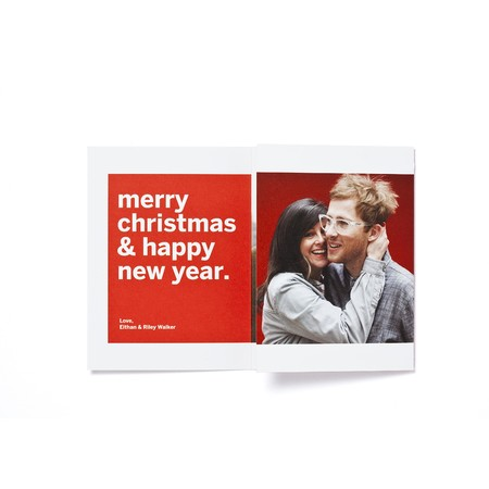 Chevron Trifold Photo Card   Happy Holidays Envelopes