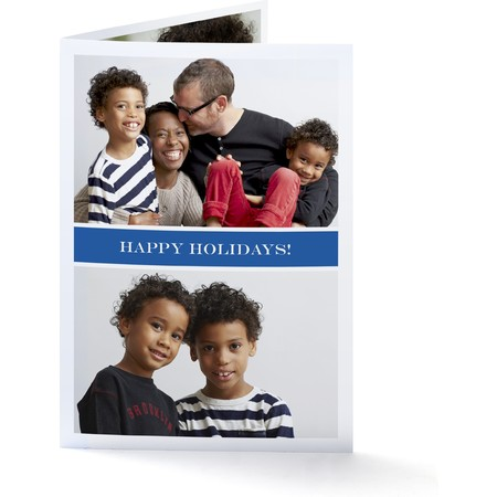 Blue Ribbon   Happy Holidays Envelopes