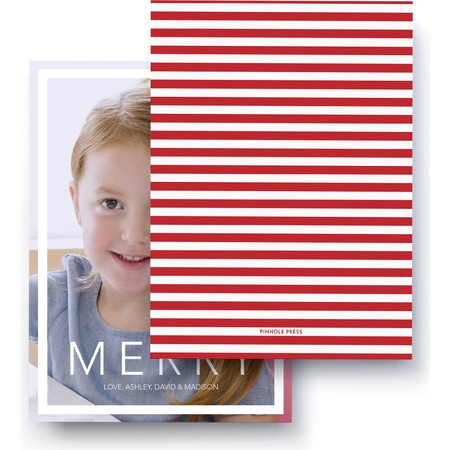Merry Stripes Photo Card