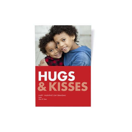 Hugs & Kisses Photo Card