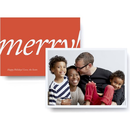 Merry! Merry! Holiday Card – Ultrathick