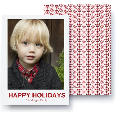 Happy Holidays Polaroid Card – Ultrathick
