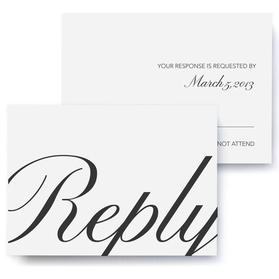 Calligraphic Wedding RSVP