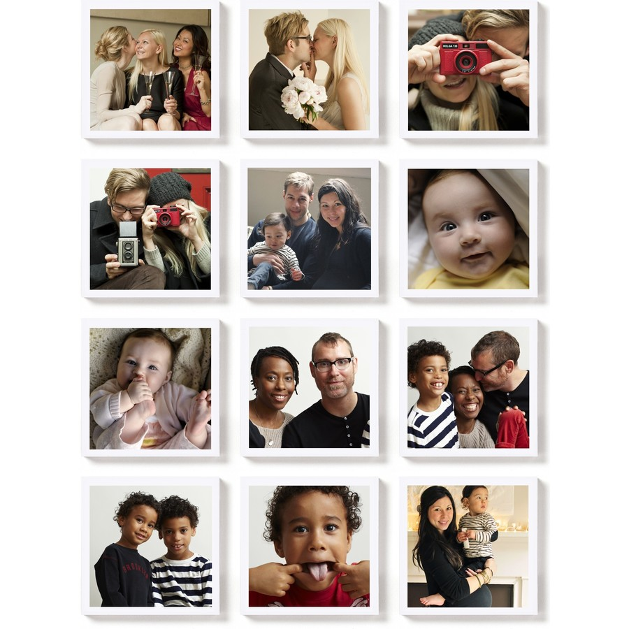 Square Photo Magnet Set of 12