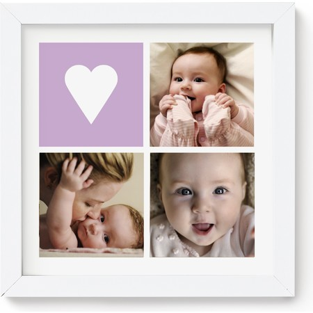 10X10 Framed Photo Collage with Icons