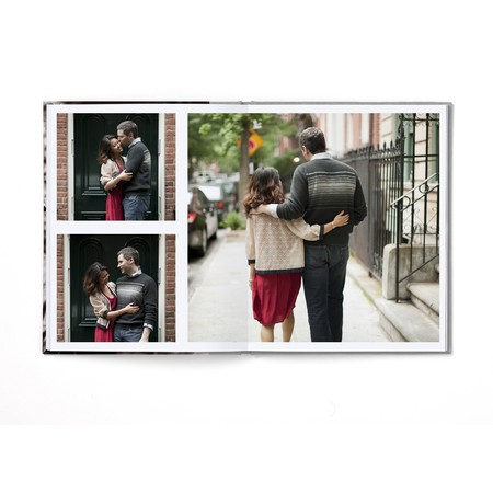 Portrait Layflat Photo Book with Modern Font