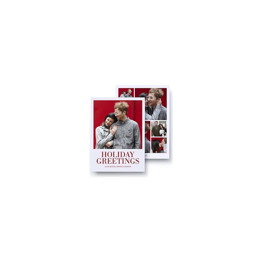 Holiday Greeting Photo Collage Card