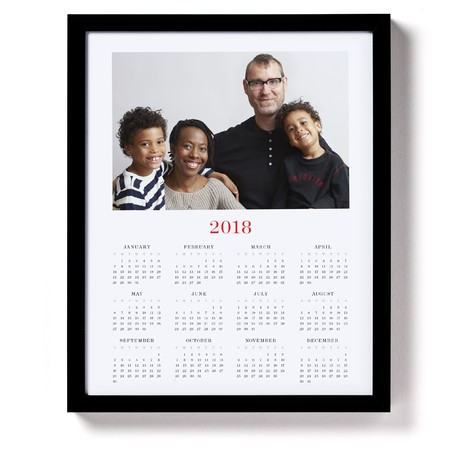 Framed Photo Calendar