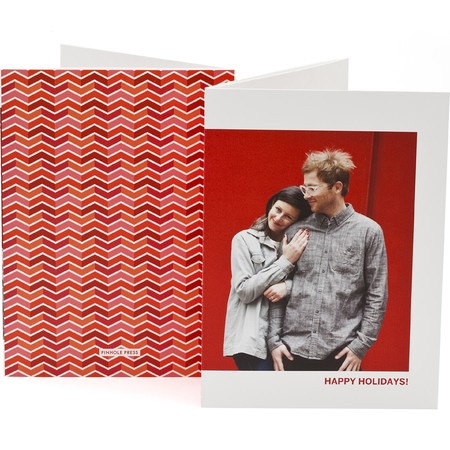 Chevron Trifold Photo Card