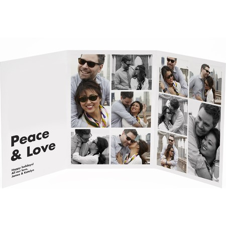 Platinum Trifold Photo Card