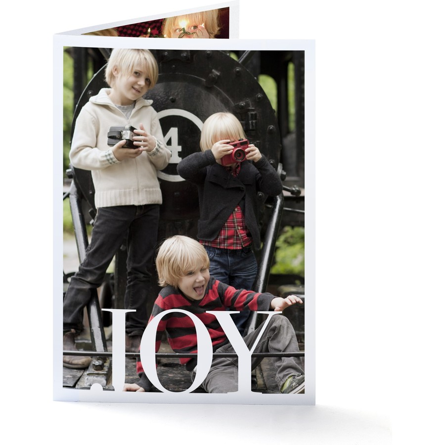 Joy Folded Holiday Card