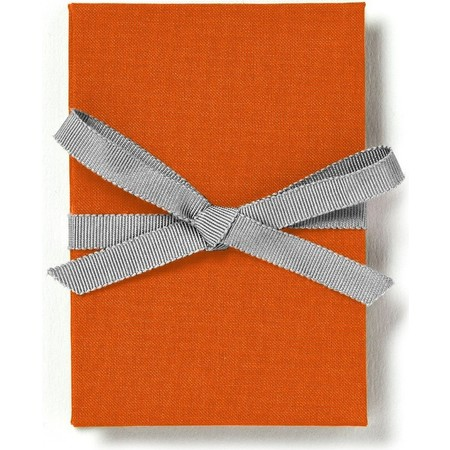 Brag Book with Orange Fabric