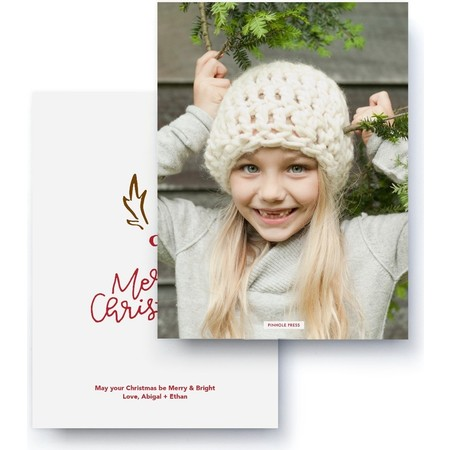 A Red-Nosed Christmas Card Back