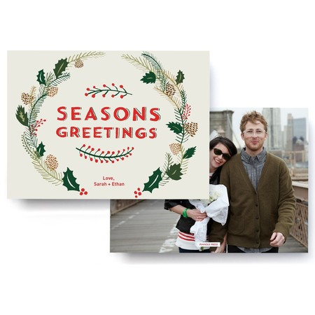 Boughs of Holly Photo Card Front