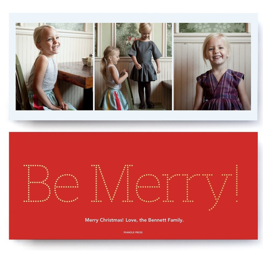 Be Merry Foil Card