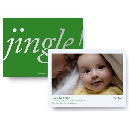 Jingle! Foil Baby Announcment