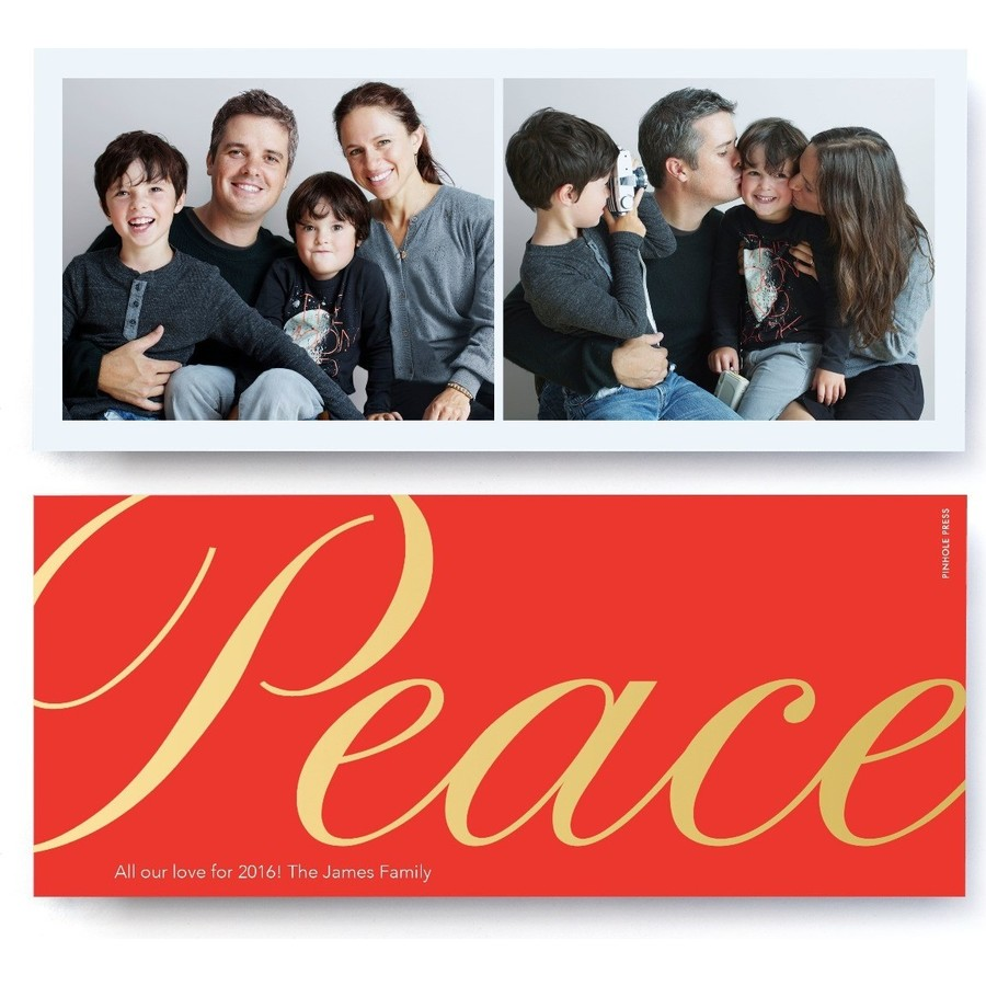 Peace Foil Holiday Card