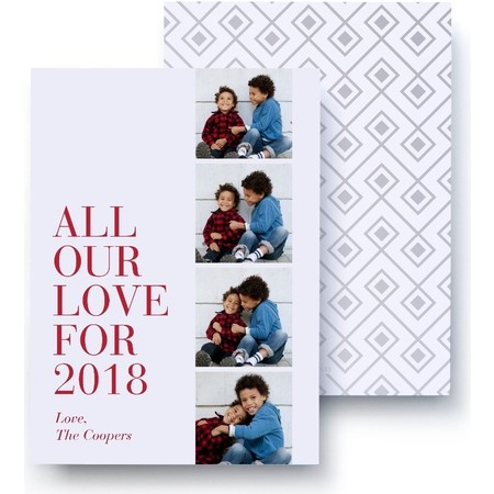 All our Love Foil Holiday Card