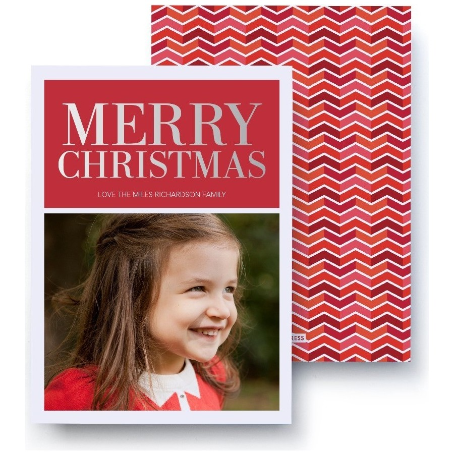 Merry Christmas Foil Card