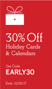 30% Off Holiday Cards & Calendars, Use Code EARLY30