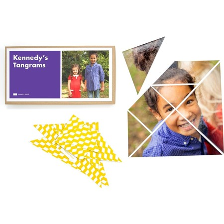 Purple & Yellow Photo Tangram Puzzles