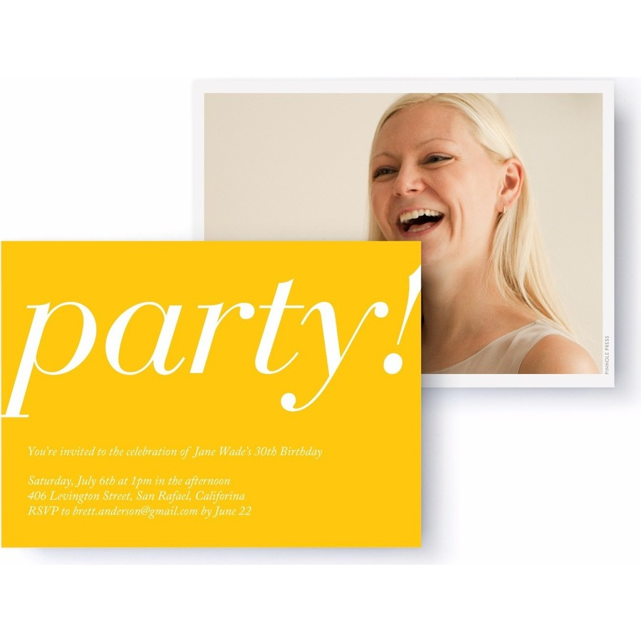Yellow Classic Party Invitation