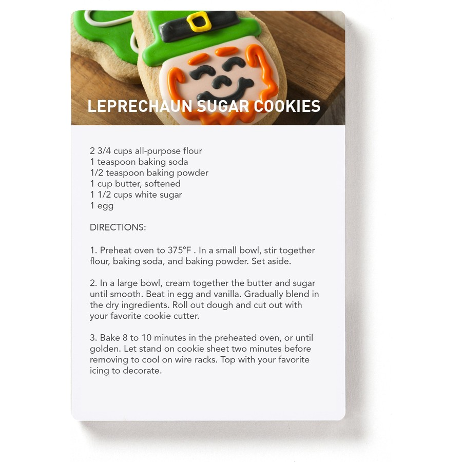 St. Patrick's Day Photo Recipe Magnet