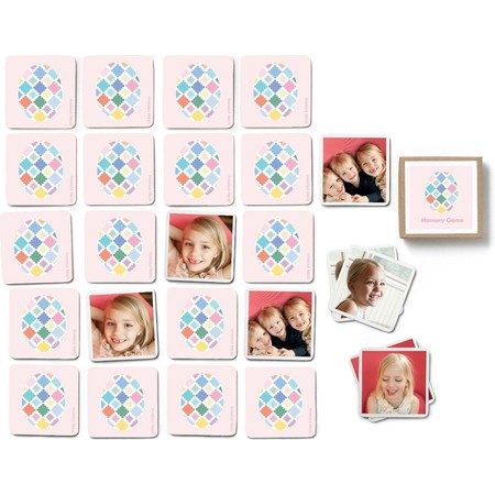 Pink Easter Egg Photo Memory Game