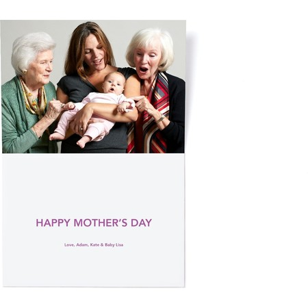 Grandma Mothers Day Photo Card Inside