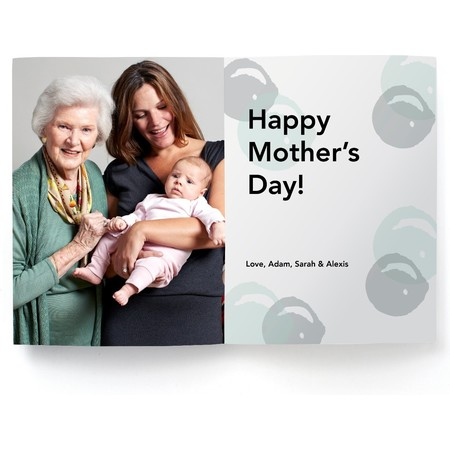 Waves Mothers Day Photo Card Inside