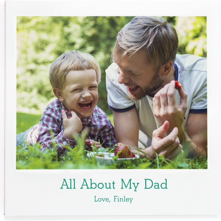All About My Dad Fill-in Photo Book Cover