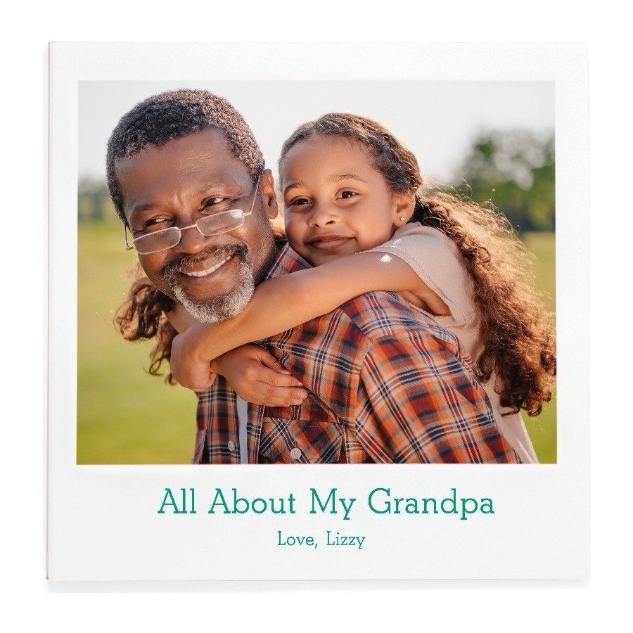 All About My Grandpa Fill-in Photo Book Cover