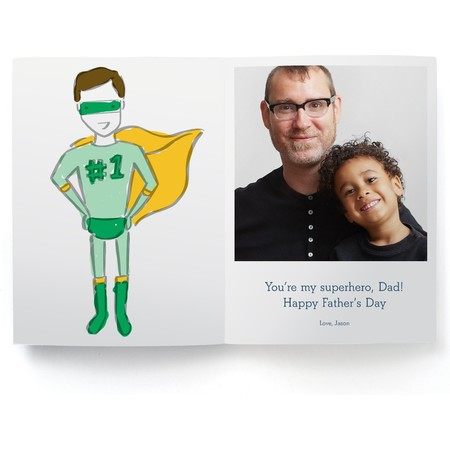 Coloring Father's Day Photo Card, Detail