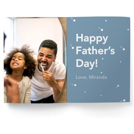 Bowtie Stripes Father's Day Photo Card
