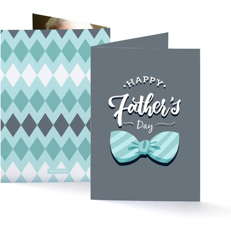 Bowtie Father's Day Photo Card
