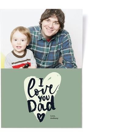 Father's Day Mustache Photo Card, Detail